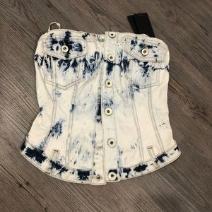 Never used, Guess denim corset